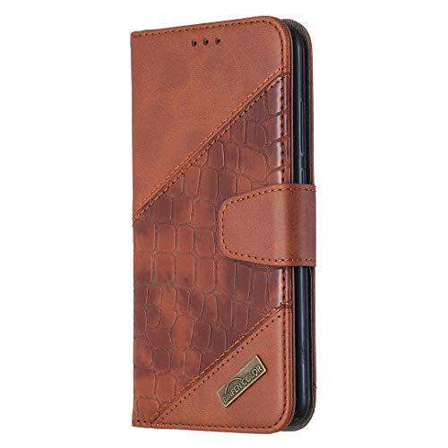 Hülle für Xiaomi Redmi Note 8T Hülle Handyhülle [Standfunktion] [Kartenfach] Schutzhülle lederhülle klapphülle für Xiaomi Redmi Note8T - DEBF060598 Braun