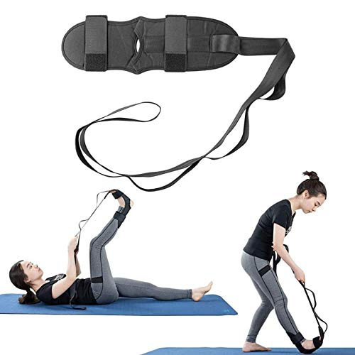 Foot Stretching Belt | Pain-Away Solo Stretcher | 6 Loops Stretching Strap | Fitness Foot and Leg Stretcher for Plantar Fasciitis | Relief Drop Foot, Heel, Ankle Pain
