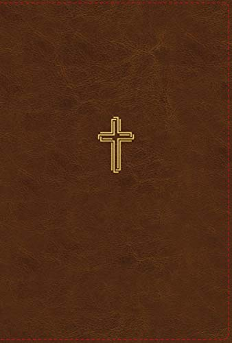 NASB, Thinline Bible, Giant Print, Leathersoft, Brown, Red Letter, 1995 Text, Thumb Indexed, Comfort Print