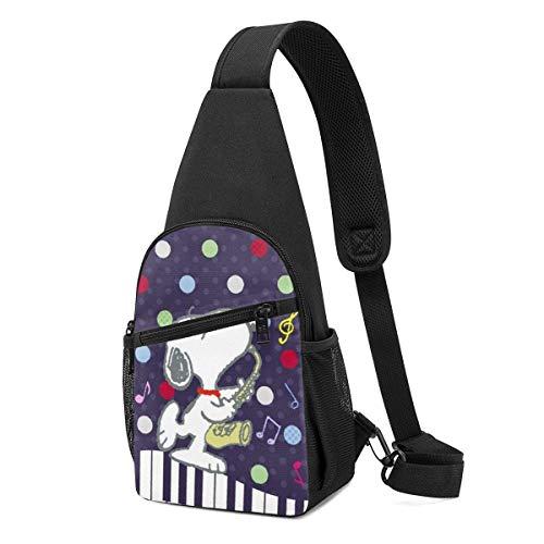 WILHJGH Sling Backpack Casual Musicians Crossbody Daypack Shoulder Bag Chest Bag Rucksack