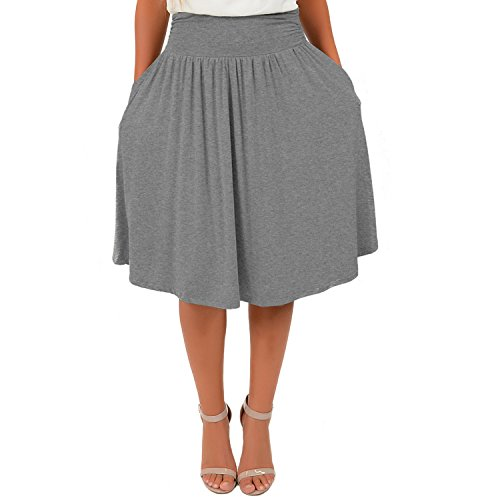 Stretch is Comfort Women's Plus Size Pocket Skirt Charcoal Gray 3X