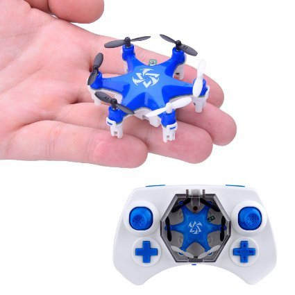 Mokasi 6 Propellers Mini Pocket Drone, 2.4Ghz 4CH 6-Axis Gyro RC Micro Quadcopter with 3D Flip, Headless Mode,Nano Copters RTF Mode 2 Blue