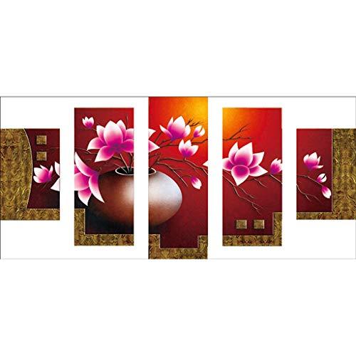 MOTOCO Vollbohrer DIY 5D Diamant Malerei Stickerei Kreuz Handwerk Stitch Kit Wohnkultur(D: Blume)