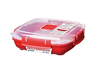 Sistema Microwave Cookware Plate, Small, 14.8 Ounce/ 1.85 Cup, Red (B005D6XZT4) | Amazon price tracker / tracking, Amazon price history charts, Amazon price watches, Amazon price drop alerts
