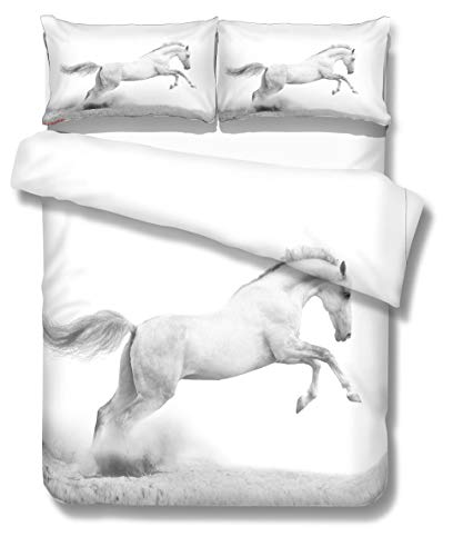 3D Personalized Design Horse Duvet Cover Set Style Microfiber Decoration Room home (Twin -Style 17)