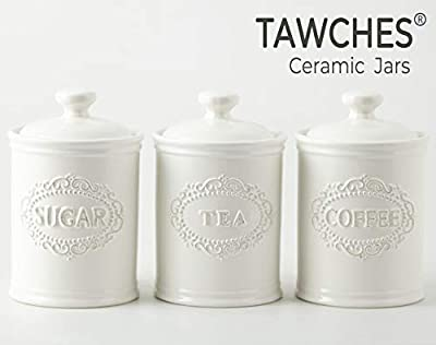 Canisters Set of 3 TAWCHES TC001 (A White 3pcs)