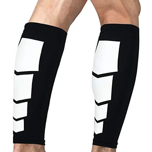 oxoxo sports Calf Sleeves Schienbeinschonerhalter & Stutzenhalter   rutschfest Dank Silikon-Saum   Schutz und Kompression der Waden   1 Paar = 2 Stück [L]