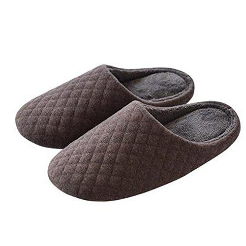Hiver et chaleureux Chaussures Indoor hommes japonais Maison Slipper, Marron