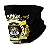 The Real Kings are Born On December 1971 Neck Gaiter Headbands, Magic Scarf Washable Sun Protection Balaclava Face Cover Black