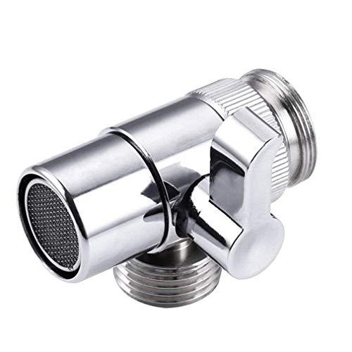 Interruptor Adaptador de Grifo Fregadero de Cocina Divisor Válvula de desvío Conector de Grifo de Agua (Aleación de Plata)