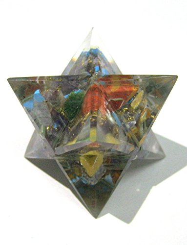 Crystal Miracle Exclusive Chakra ORGONITE Merkaba Star Crystal Healing Metaphysical Gemstone Reiki Men Women Gift FENG Shui Wicca Powerful Psychic Wealth Health