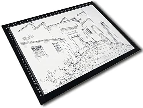 SMGPYLFJ Caja de luz de Seguimiento A4, Almohadilla de luz, Mesa de luz LED portátil, Cable de alimentación USB Regulable, para Dibujo de Artistas,A2