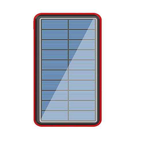Solar Power Bank 30000Mah 2020 Newest Solar Portable Charger Portable with 4 Outputs Huge Capacity Backup Battery Compatible Smartphone,Tablet and More, with Camping Lights Solar Chargers