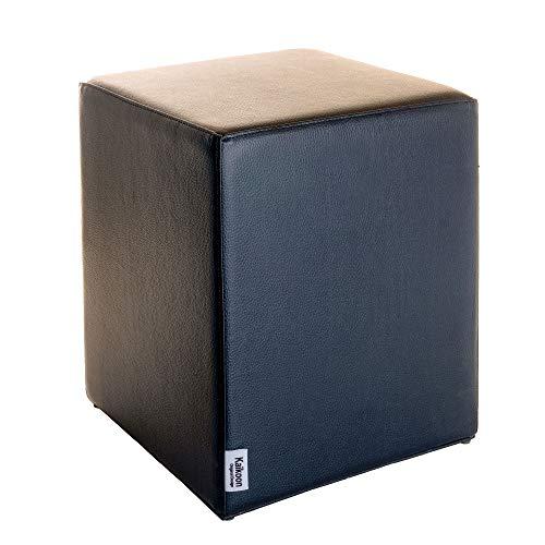 Pouf noir dimensions : 35 cm x 35 cm x 42 cm