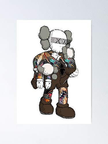 guyfam KAWS Vin-Tage Poster 12x16 Inch No Frame Board for Office Decor, Best Gift Dad Mom Grandmother and Your Friends