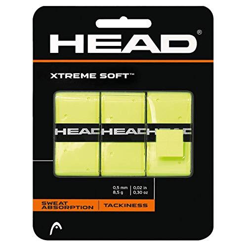 HEAD Xtreme Soft Racquet Overgrip - Tennis Racket Grip Tape - 3-Pack, Yellow