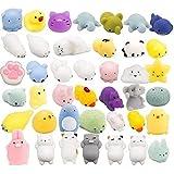 FENGHU 4-5cm 40pcs suave silicona animal juguete conjunto Kawaii mini apretón suave modelo juguetes fiesta regalos varias formas de exprimir juguetes regalos para niños
