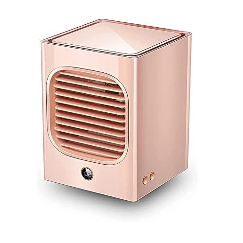 KASAN Mini Enfriador De Aire, Mini Aire Acondicionado Portátil 3 En 1, Enfriador De Aire Y Ventilador Humidificador Y Purificador De Aire para El Hogar Y La Oficina(Color:a)