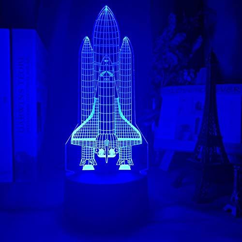 Anime - Luz nocturna 3D acrílica 3D ilusión LED nocturna con sensor de color que cambia de color al tacto, para niños y niñas
