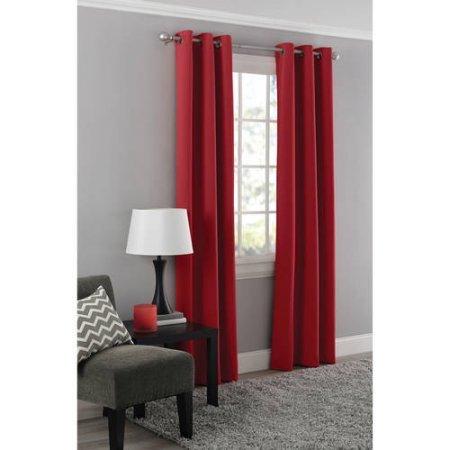 Mainstays Blackout Energy Efficient Grommet Curtain Panel- 40x95 / Red