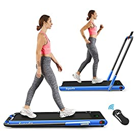 Goplus 2 in 1 Folding Treadmill, 2.25HP Under Desk Electric Treadmill,...