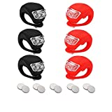 Bicycle Light Front and Rear Silicone LED Bike Light Set 6PCS- Bike Headlight and Taillight,Waterproof & Safety Road,Mountain Bike Lights, 10 Extra Batteries Included