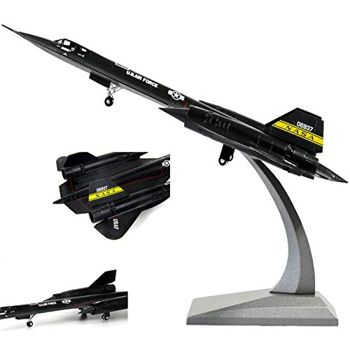 WZRY Model plane, 1/72 SR71 Blackbird High-altitude Reconnaissance Aircraft Metal Fighter, Military Model Diecast Plane Model,for Commemorate Collection or Kids Birthday gift