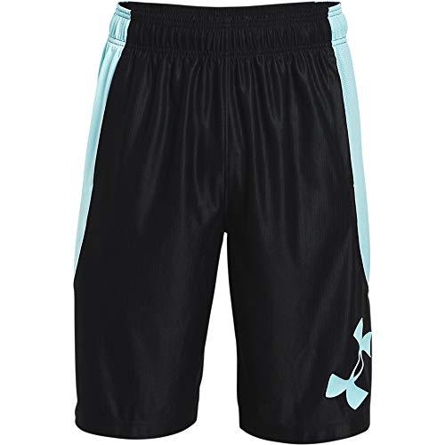 Under Armour Men's Perimeter Basketball Shorts , Black (004)/Breeze , Medium