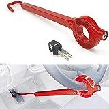 BLOKAUTO 571/B Barra Antirrobo Coche Volante Pedal Original Cierre Basculante, Rojo
