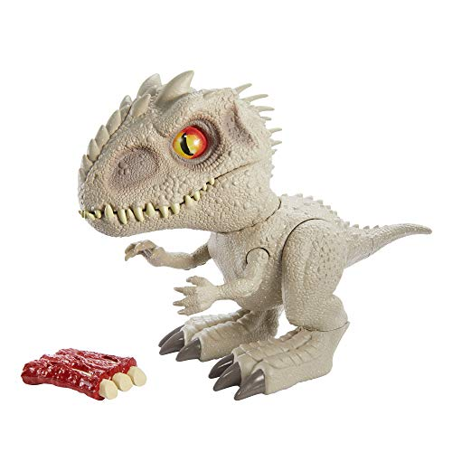 Jurassic World Camp Cretaceous Feeding Frenzy Indominus Rex Interactive Dinosaur, Bite Reflex, Toy Ribs, Lights & Sounds, Authentic Detail, Ages 4 Years Old & Up [Amazon Exclusive]