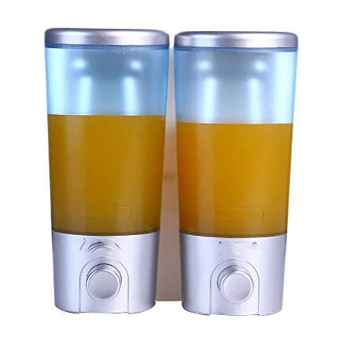 luckxuan Dispensador de Jabón Caja de Gel de Ducha de dispensador de jabón montado en la Pared Manual sin Perforaciones Dispensador de Jabón de Baño