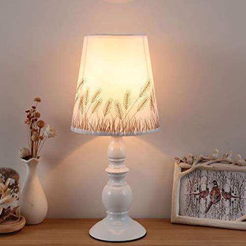 Moderne kleine tafellamp van hoogwaardig stof, vlinder/gran/bloem en andere leeslamp van bedrukt katoen, voor de woonkamer, werklamp