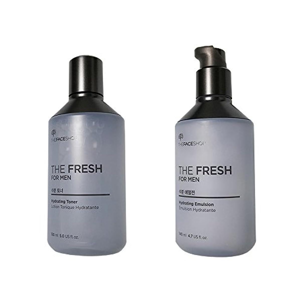 期限切れショッキングスチール[ザ?フェイスショップ] The Face Shop ザフレッシュフォーマン水分スキンケアセット(エマルジョン140ml+トナー150ml) The Face Shop The Fresh For Men Hydrating Skincare Set(emulsion140ml+Toner150ml) [海外直送品]