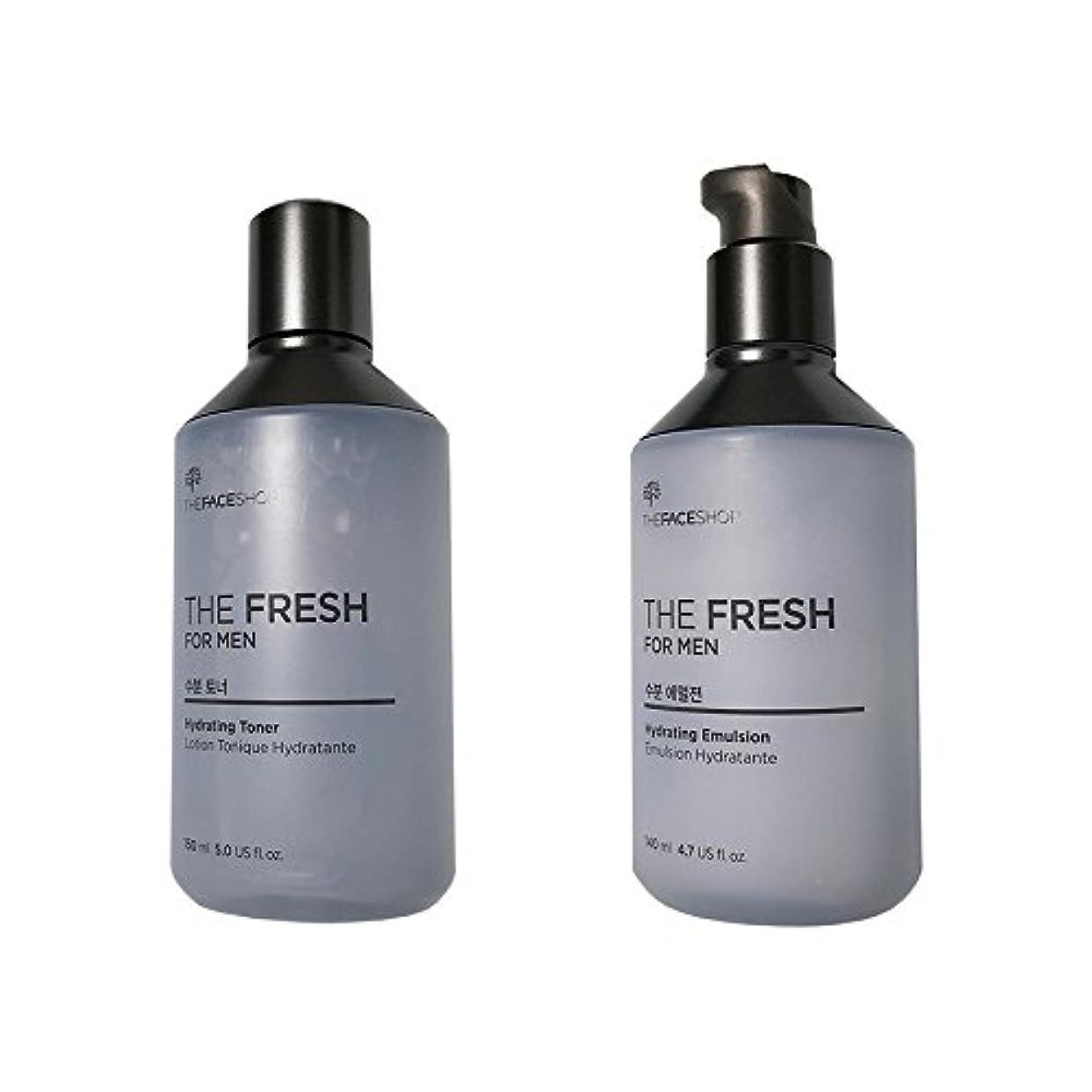 記念碑的な彼女の調整する[ザ?フェイスショップ] The Face Shop ザフレッシュフォーマン水分スキンケアセット(エマルジョン140ml+トナー150ml) The Face Shop The Fresh For Men Hydrating Skincare Set(emulsion140ml+Toner150ml) [海外直送品]