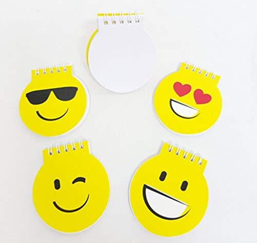 Lote de 30 libretas Infantiles emoticonos. con 4 caritas Emoji Diferentes. Se sirven Surtidas. Regalo para cumpleaños y Fiestas con niños.