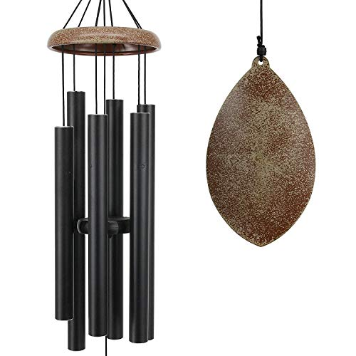 ASTARIN Wind Chimes for Outside, 35 Inch Wind Chimes Outdoor, Memorial Wind Chimes as Sympathy Gift, Outdoor Decorations for Your Garden, Patio (Metal Wind Chime-Black)