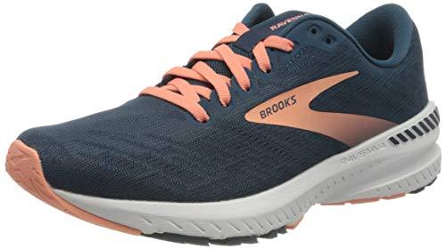 Brooks Womens Ravenna 11 Running Shoe - Majolica/Navy/Desert - B - 9.5