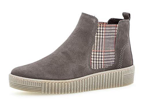 Gabor Damen Chelsea Boots 33.731, Frauen Stiefelette,Stiefel,Halbstiefel,Bootie,Schlupfstiefel,flach,Pepper/Kombi(fumo),39 EU / 6 UK