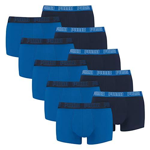 PUMA 10 er Pack Short Boxer Boxershorts Men Pant Unterwäsche kurz 100000884, Farbe:003 - True Blue, Bekleidungsgröße:L