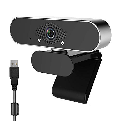 HD Webcam 1080P with Microphone and Noise Reduction, PC Webcam Laptop Plug and Play USB with Auto Light Correction,Webcam Streaming Computer Web Camera with 110-Degree View Angle,for Video (Black)