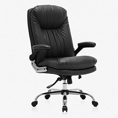 Computer Bürostuhl Swivel Task Chair High-Back Executive Office Stuhl, Kunstleder Großer Sitz Computer Schreibtischstuhl, ergonomisches Design Verstellbare Sitzhöhe, Synchron-Kippmechanismus, 360 Grad