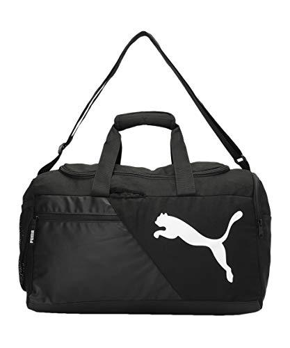 Puma unisex-adult PUMA Duffle Bag IND II Puma Black-Puma White Luggage- Garment Bag-X