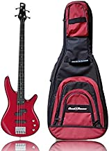 Full Size Electric Bass Guitar - Ibanez Electric Bass For Beginner to Advanced - Ibanez SR300DX - 4 String - 24 Fret - Candy Apple Red