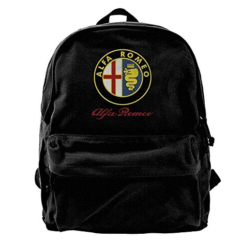 Husimy Mochilas Tipo Casual Alfa Romeo Car Mens and Womens Canvas Backpack...