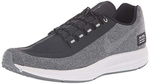 Nike Zoom Winflo 5 Run Shield Mens Running Trainers AO1572 Sneakers Shoes (UK 6.5 US 7.5 EU 40.5, Black Metalic Silver 001)