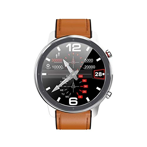 L11 SmartWatch Men's Lady Ecg Ppg Heart Rate Full Round Touch Waterproof Ip68 Smartwatch Wristband China Silver Brown