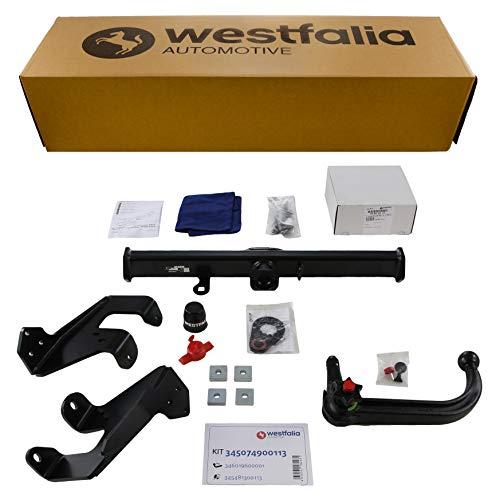Westfalia Abnehmbare Anhängerkupplung für Kia Sportage (BJ 12/04-08/10) im Set mit 13-poligem fahrzeugspezifischen Westfalia Elektrosatz