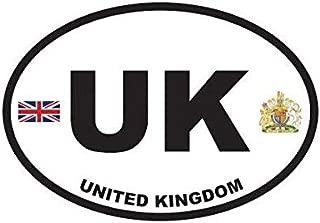 ION Graphics United Kingdom Oval Sticker Decal Vinyl Britain British Country Code Euro UK v2 5