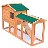 vidaXL Conejera de Exterior Casa para Animal Pequeño Jaula de Mascota de Madera