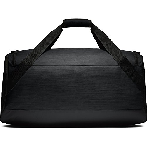 NIKE Brasilia Duffel Bag, Black/Black/White, Large